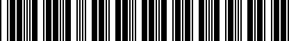 Barcode for DRG009594